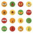 Insects Icons Flat — Stock Vector #69393541