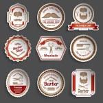 Barber Shop Stickers — Stock Vector #69393727