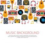 Music retro symbols background — Stock Vector #69395107