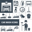 Car wash service icons set black — Stock Vector #69395163