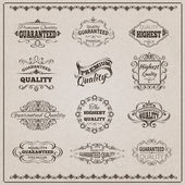 Quality Emblems Set — Stock Vector