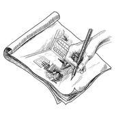 Room Sketch Illustration — Stock Vector