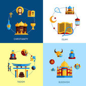 Religion Design Concept Set — Stock Vector