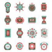 Clock Icon Set — Stock Vector