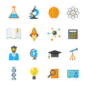 Science And Research Icon Flat — Stock Vector