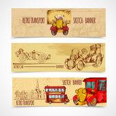 Vintage Transport Banners — Stockvector