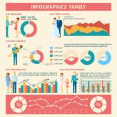 Family Infographics Set — Stock Vector