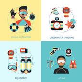 Diving Design Concept — Stock Vector