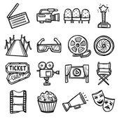 Cinema Icons Set — Stock Vector