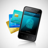 Biometric Mobile Payment — Stockvector