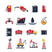 Petroleum Industry Icon Set — Vecteur
