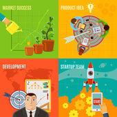 Startup Design Concept Set — Stockvektor