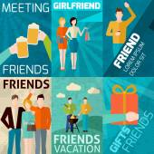 Friends Mini Poster Set — Stock Vector