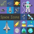 Space Icons Flat — Stock Vector #70841713