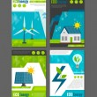 Eco energy icons poster — Stock Vector #70842065