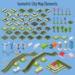 Isometric City Map Elements — Stock Vector #70842159