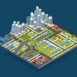 Isometric City Illustration — Stock Vector #70842239