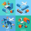 Logistics Isometric Set — Stock Vector #70842249