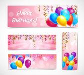 Celebration Banners Set — Stock Vector