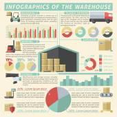 Warehouse Infographic Set — Stock Vector