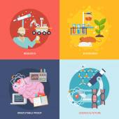 Science And Research Set — Stock Vector
