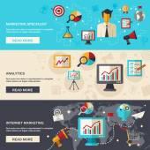 Marketing Banner Set — Stock Vector