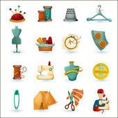 Sewing Icons Set — Stock Vector
