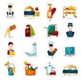 Hotel Maid Icons — Stock Vector