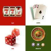 Casino Design Concept — Vettoriale Stock