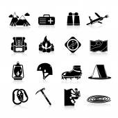Climbing Icons Black — Stock Vector