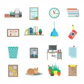 Workplace Icons Set — Vettoriale Stock