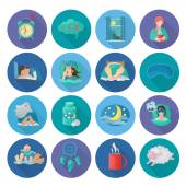 Sleep Time Icons — Vettoriale Stock