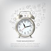 Time Management Poster — Stock Vector