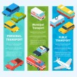 Transport Isometric Banners Vertical — Stock Vector #71549019
