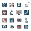 Ultrasound X-ray Icons Flat — Stock Vector #71549123