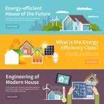 Energy Saving House Banner — Stock Vector #71549319