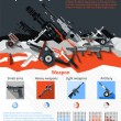 Постер, плакат: Weapon Infographics Set