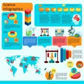 Nauka infografiki zestaw — Wektor stockowy