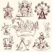 Amusement Park Sketch — Stock Vector