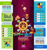 Amusement Park Infographics — Stock Vector