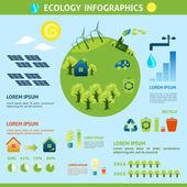 Ecology Infographics Set — Stock Vector