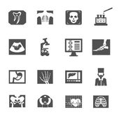 Ultrasound And X-ray Icons — Stock Vector