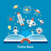 Fiction Book Illustration — Stock Vector