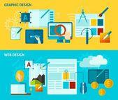 Graphic Design Banner — Stock Vector