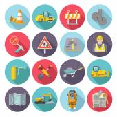 Road Worker Flat Icons — Stock Vector