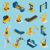 Isometric Robot Machinery — Stock Vector