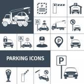 Parking Lot Set — Stock Vector