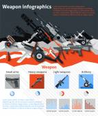 Weapon Infographics Set — Stock Vector