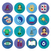 Fortune Teller Icons Flat — Stock Vector