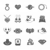 Precious Jewels Icon Set — Vector de stock
